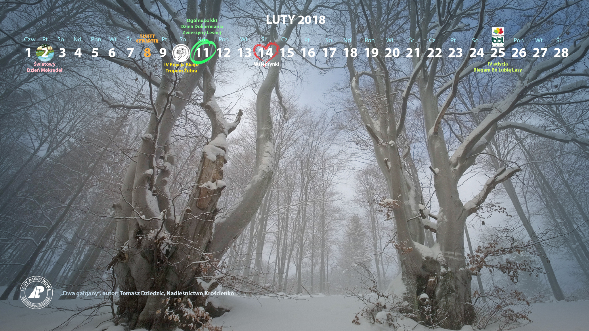 Kalendarz luty 2018 2048x1152