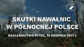Skutki nawałnic w północnej Polsce